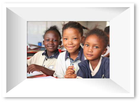 Image of three girls at school